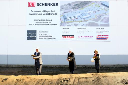 Spatenstich in Klagenfurt, DB Schenker
