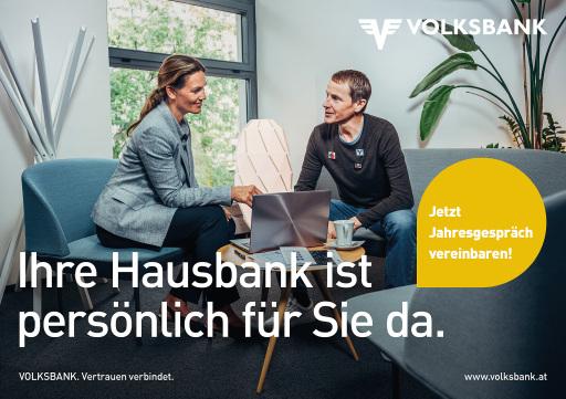 Der Volksbanken-Verbund macht mit Testimonial Andreas Goldberger auf das persönliche Jahresgespräch aufmerksam