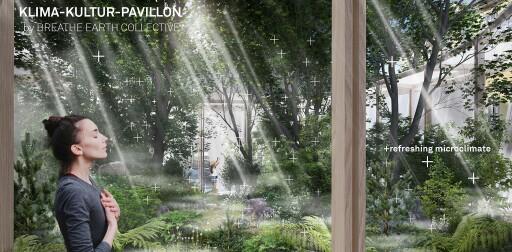Breathe Earth Collective, Visualisierung Klima-Kultur-Pavillon im Rahmen von Graz Kulturjahr 2020