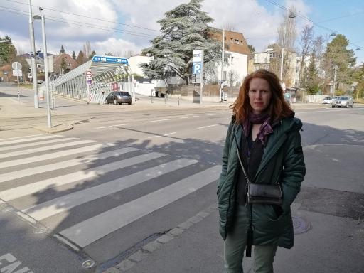 Brennpunkt Grinzinger Allee: Barbara Theiler und ihre beiden Söhne wurden am 5. März bei einem Verkehrsunfall verletzt.