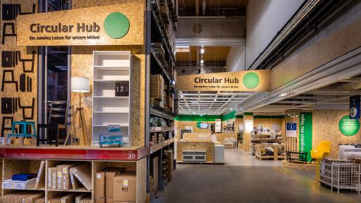 """IKEA Österreich schickt seine Produkte auf eine umweltschonende Kreislaufreise und verwandelt die bisherigen Fundgruben der IKEA Standorte in """"Circular Hubs""""."""