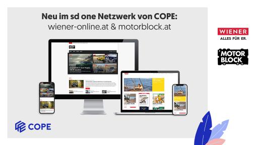 Neu im sd one Netzwerk von COPE: wiener-online.at & motorblock.at bringen geballte Kraft in der Männer-Zielgruppe