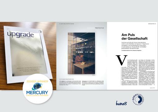 Das Universitätsmagazin upgrade erhielt höchste Auszeichnung bei den internationalen Mercury Awards in New York