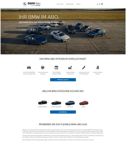 BMW ab sofort im hochflexiblen Abo-Modell.