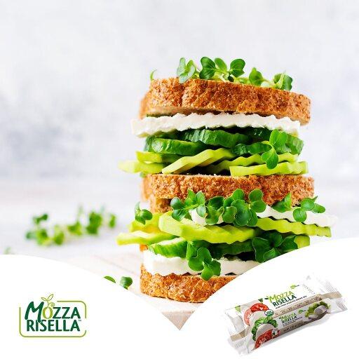 veganer Burger mit MozzaRisella