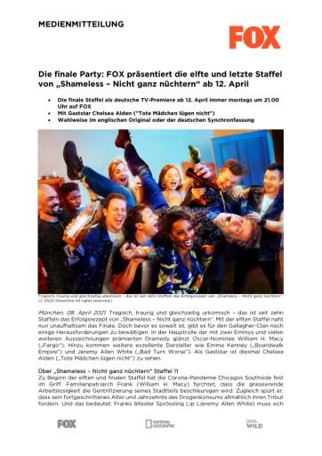 """Die finale Party: FOX präsentiert die elfte und letzte Staffel von """"Shameless - Nicht ganz nüchtern"""" ab 12. April (FOTO)"""