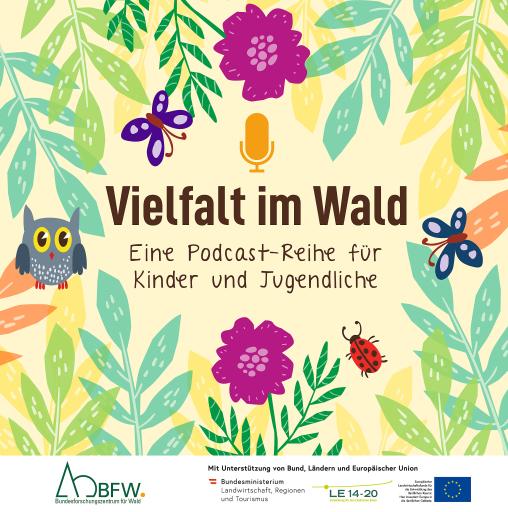 Banner zu Podcast Biodiversität des Bundesforschungszentrums für Wald (BFW)