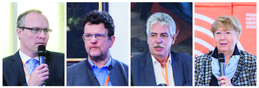 v.l.: Dr. Alexander Biach, Prof. Dr. Reinhard Riedl, Dr. Hans Jörg Schelling, DI Dr. Christa Wirthumer-Hoche
