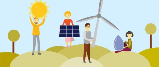 WIR Energie Illustration für Energiegemeinschaft