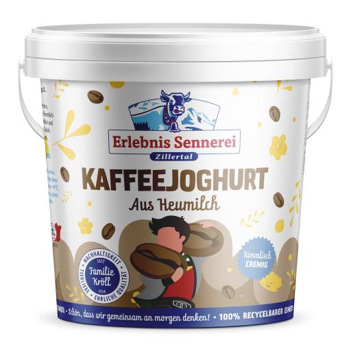 Kaffeejoghurt im 1-KG-Eimer