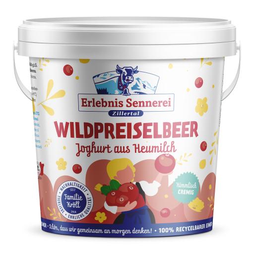 Wildpreiselbeerjoghurt im 1-KG-Eimer