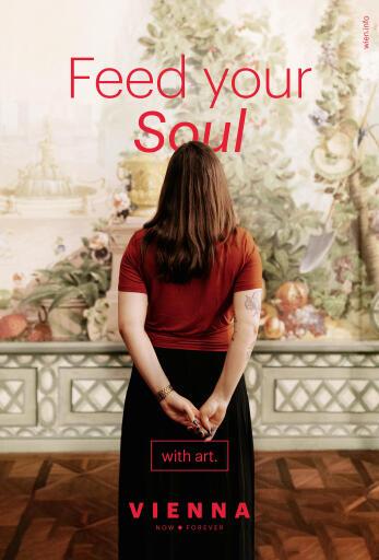 """Bildunterschrift: Sujet zur """"Feed your Soul""""-Werbekampagne des WienTourismus"""