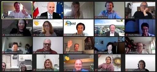 Gruppenbild: Zoom-Videokonferenz Salzburger im Gespräch