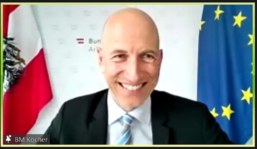Zoom-Videokonferenz Salzburger im Gespräch