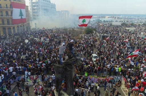 Proteste im Libanon im Jahr 2020. © Tilo Gummel / Weiterer Text über ots und www.presseportal.de/nr/9021 / Die Verwendung dieses Bildes ist für redaktionelle Zwecke unter Beachtung ggf. genannter Nutzungsbedingungen honorarfrei. Veröffentlichung bitte mit Bildrechte-Hinweis.