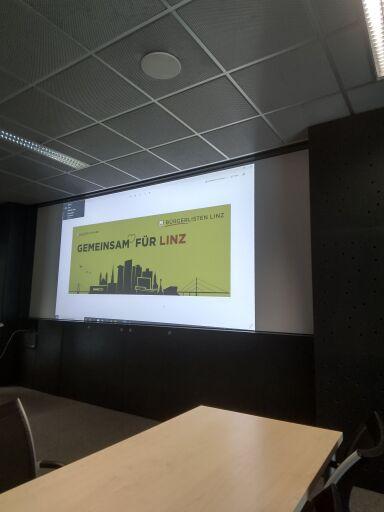 Gründungssitzung bei Einhaltung der aktuellen Covid-Verordnung mit Präsentation des neuen Corporate Designs der Bürgerlisten Oberösterreich und Linz