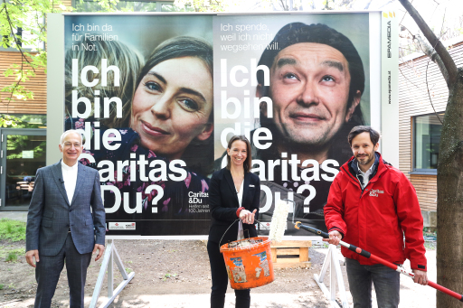 Michael Landau (Präsident der Caritas Österreich), Anna Parr (Generalsekretärin der Caritas Österreich) und Klaus Schwertner (Geschäftsführender Direktor der Caritas der Erzdiözese Wien) zu 100 Jahre Caritas