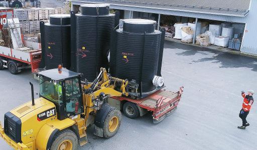 Das neue Produktionswerk für Spezialprodukte in Vantaa in Finnland fertigt maßgeschneiderte Produkte an, wie zum Beispiel Pumpstationen, Schächte und Tanks mit einem Durchmesser von bis zu 3,6 Meter