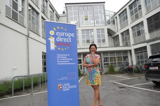 """Gritlind Kettl, EU-Bürgerservice Salzburg: """"Die EU bietet viele Angebote für Jugendliche – z.B. Gratis-Reisetage durch Europa."""""""