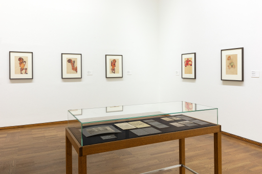 "Ausstellungsansicht ""The Body Electric: Erwin Osen - Egon Schiele"", Leopold Museum, Wien, Foto: Lisa Rastl"