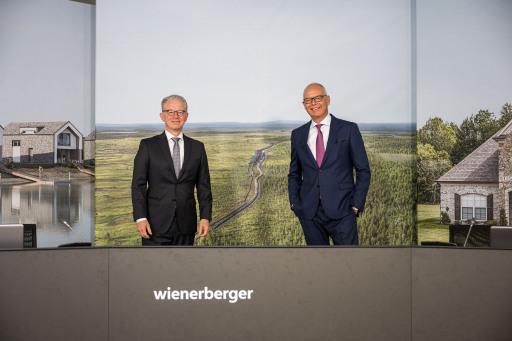 Peter Steiner (Aufsichtsratsvorsitzender der Wienerberger AG) und Heimo Scheuch (Vorstandsvorsitzender der Wienerberger AG)
