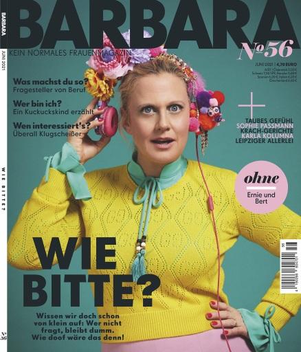 Cover_BARBARA_Nr.56_EVT: 6.5.2021 / Weiterer Text über ots und www.presseportal.de/nr/118476 / Die Verwendung dieses Bildes ist für redaktionelle Zwecke unter Beachtung ggf. genannter Nutzungsbedingungen honorarfrei. Veröffentlichung bitte mit Bildrechte-Hinweis.