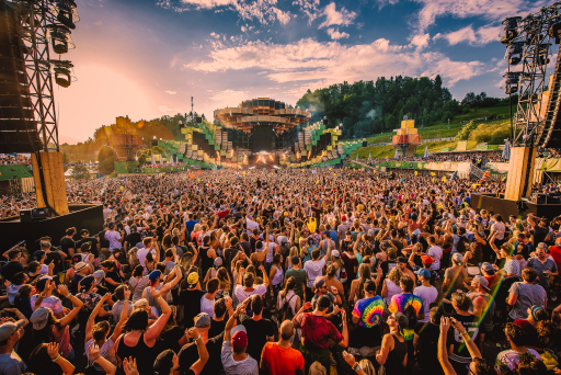 Electric Love Mainstage Sonnenuntergang