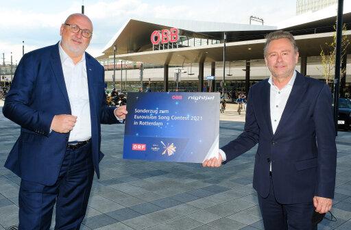 v.l.n.r. ÖBB-CEO Andreas Matthä und ORF Generaldirektor Alexander Wrabetz