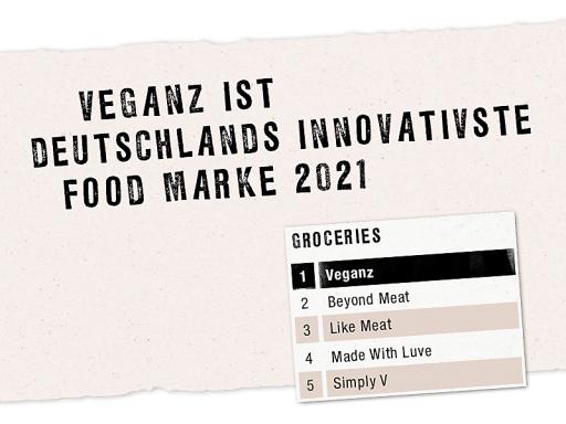 Veganz ist laut Handelsblatt-Umfrage Deutschlands innovativste Food Marke 2021 / Weiterer Text über ots und www.presseportal.de/nr/137749 / Die Verwendung dieses Bildes ist für redaktionelle Zwecke unter Beachtung ggf. genannter Nutzungsbedingungen honorarfrei. Veröffentlichung bitte mit Bildrechte-Hinweis.