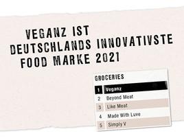 Veganz ist Deutschlands innovativste Food Marke 2021 (FOTO)