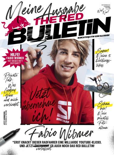 """Das Cover der neuen """"The Red Bulletin""""-Ausgabe mit Fabio Wibmer als Gast-Chefredakteur"""