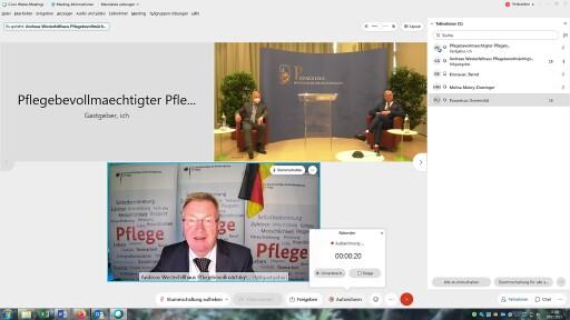 Verleihung der Ehrendoktorwürde an Andreas Westerfellhaus (unten) mit PMU-Rektor Wolfgang Sperl und Instituts-Vorstand Jürgen Osterbrink
