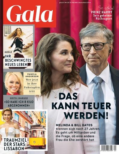 Cover GALA 20/2021 (EVT: 12. Mai 2021) / Weiterer Text über ots und www.presseportal.de/nr/6106 / Die Verwendung dieses Bildes ist für redaktionelle Zwecke unter Beachtung ggf. genannter Nutzungsbedingungen honorarfrei. Veröffentlichung bitte mit Bildrechte-Hinweis.