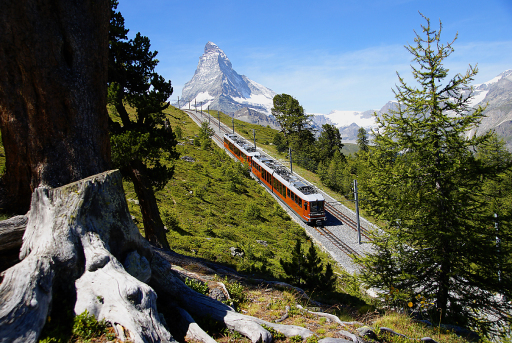 Gornergrat Bahn bei Zermatt