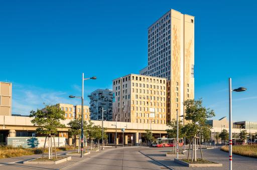 HoHo Wien von der Seestadtstraße August 2020