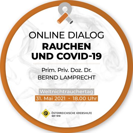 Online Dialog 'Rauchen & Covid-19' am Weltnichtrauchertag (31.5.2021)