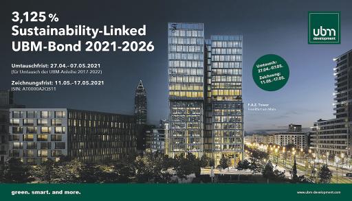 3,125% Sustainability-Linked UBM-Anleihe 2021