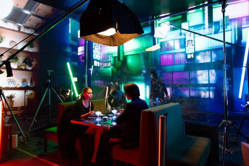Videodreh der Band Bilderbuch im Virtual Production Studio Vienna