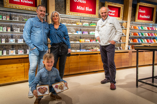 Der 8-jährige Steirer Christoph legte den Grundstein für die Kampagne und besuchte Josef Zotter