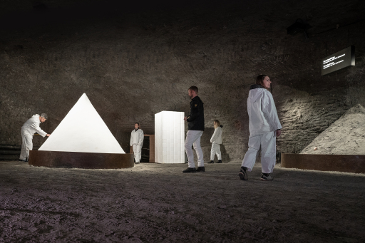Die erste untertägige Schaustelle thematisiert den modernen Salzabbau.