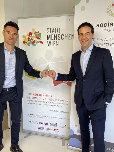 Emil Diaconu (GF Social City Wien); Sharif Shoukry (GF Österreichischer Sportwettenverband)