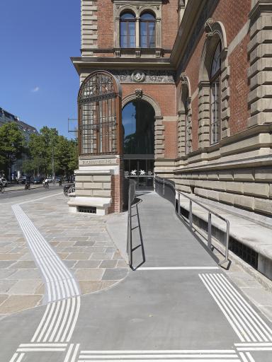 Barrierefreier Zugang, MAK, 2021 Architektur: Susanne Zottl mit Daniel Kerbler Außenansicht © Mario Buda