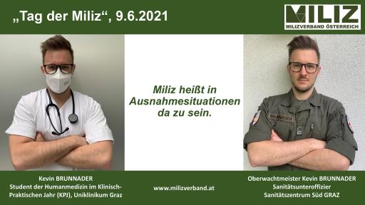Oberwachtmeister Kevin BRUNNADER, Med Uni Graz, Medizinstudent