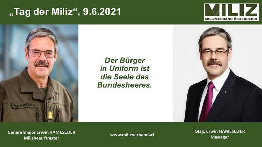 Tag der MILIZ - Generalmajor Mag. Erwin HAMESEDER, Manager, RAIFFEISEN