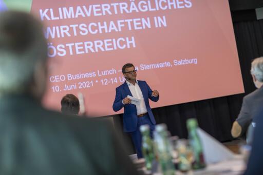 """respACT-CEO Business Lunch in der Sternwarte in Salzburg """"Klimaverträgliches Wirtschaften in Österreich"""" Foto: Neumayr/Leo 10.06.2021"""