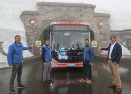 Ultimativer Leistungstest erfolgreich bestanden: Mit dem 100 % Elektro-Bus auf den Großglockner!