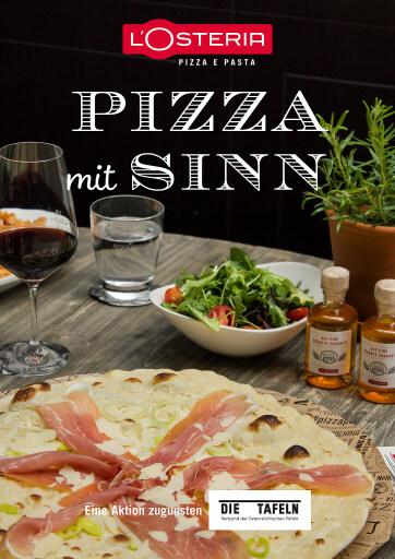 Pizza mit Sinn: Sommerspendeaktion des Verbands der österreichischen Tafeln in Kooperation mit L'Osteria.