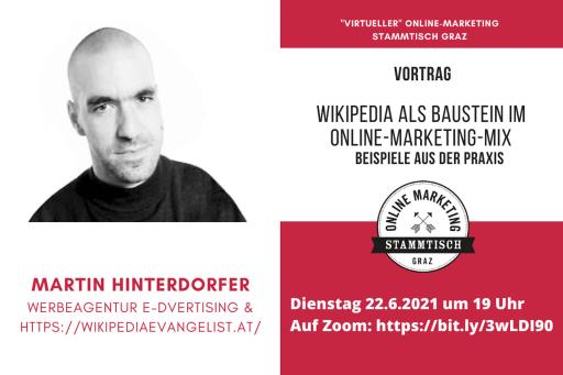 Vortrag von Martin Hinterdorfer zum Thema Wikipedia beim Online Marketing Stammtisch