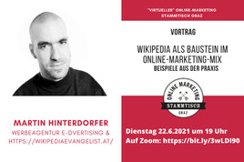 Online Marketing Stammtisch Graz: Wikipedia als Baustein im Online-Marketing-Mix