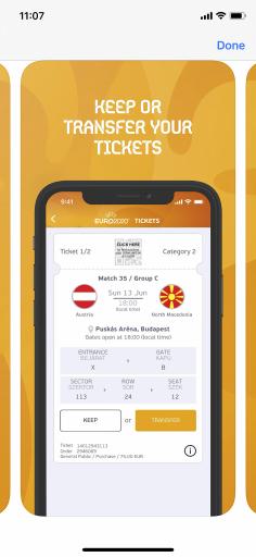 Fälschungs- und Weitergabe sicheres Ticket am Handy